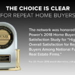 Another JD Power Award: Highest Overall Satisfaction for Repeat Home Buyers 2018